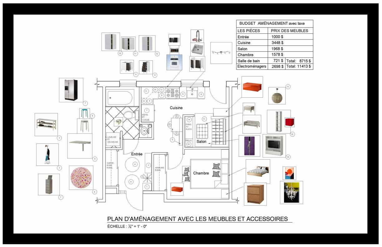 Salle De Bain Petit Espace Plan ~ projet conceptuel petit condo 405pi2 37m2 isly design