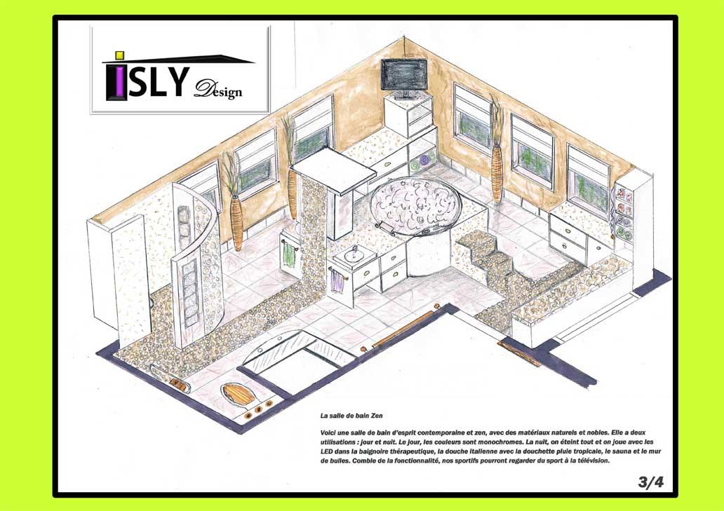 salle de bain zen isly design. Black Bedroom Furniture Sets. Home Design Ideas